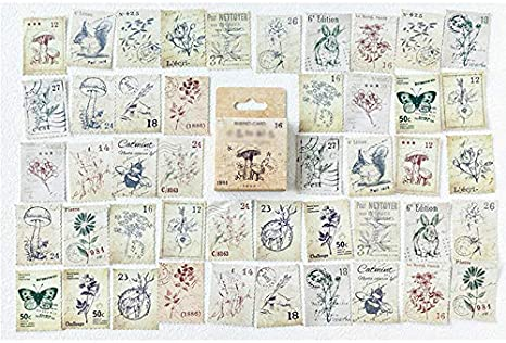 CAOLATOR 45 Blatt Sticker Stempel Aufkleber Kinder M/ädchen Karikatur Deko Stickerb/ögen f/ür Stickerbuch Tagebuch Fotoalbum Notizbuch Kalender Dekoration Scrapbooking,