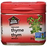 Club House, Quality Natural Herbs & Spices, Ground Thyme, Plastic Can, 28g