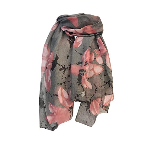 Scarf,lookatool Women Lady Long Big Flower Print Pattern Shawl Scarf Warp Stole - Knit Wool Fringed Long Scarf