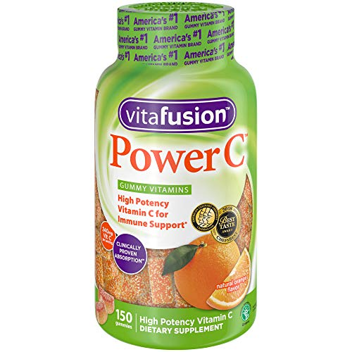 Vitafusion Power C Gummy Vitamins, 150 Count Vitamin C Gummies (Packaging May Vary), Absolutely Orange ()