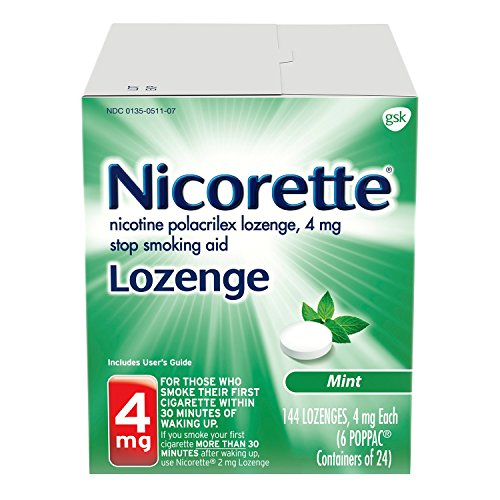 Nicorette Nicotine Lozenge to Stop Smoking, 4mg, Mint, 144 Count