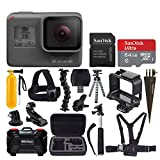GoPro HERO5 Black Action Camera + 64GB Memory Card + Clamp Mount + Head & Chest Strap + Floating Handle + Spike Mount + Monopod + Flexible Tripod + Hard Case Medium + USB Card Reader – Top Value Kit
