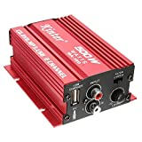Audio Amplifier - kinter Mini Hi-Fi Stereo Audio Amplifier Amp Subwoofer For Car Motorcycle 2 Channel 12V