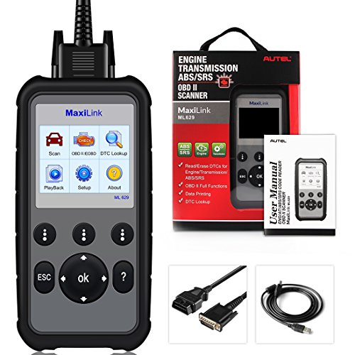 Autel MaxiLink ML629 CAN OBD2 Scanner Code Reader +ABS/SRS/Engine/Transmission Diagnostic Scan Tool, Turns Off Engine Light (MIL) and ABS/SRS Warning Lights, Upgraded Version of ML619 Scan Tool by Autel (Image #7)