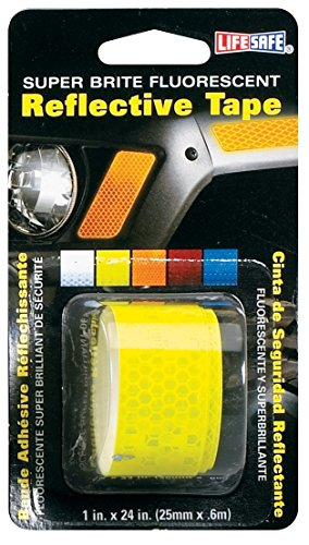 High Visibility Sign (Life Safe: Road Smart Super Brite Fluorescent Reflective Tape, 1
