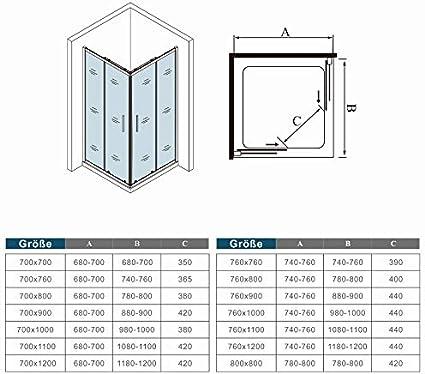 Mamparas Angular Doble Puertas Correderas 6mm Cromado para Ducha ...