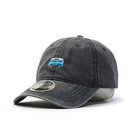 low profile fitted baseball cap vintage washed dyed cotton twill adjustable charcoal gray hats