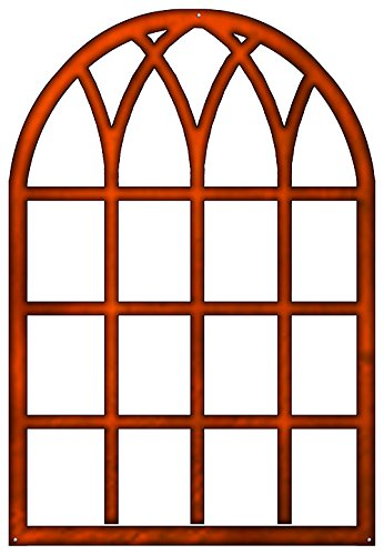 Reedyville Goods Copper Accents Windowpane Laser Cut Out Faux