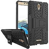 Tarkan [Military Grade] Coolpad MEGA 2.5D Case: Armour Hybrid Bumper Flip Stand Rugged Hard Back Cover [Black] [Tough & Protective]
