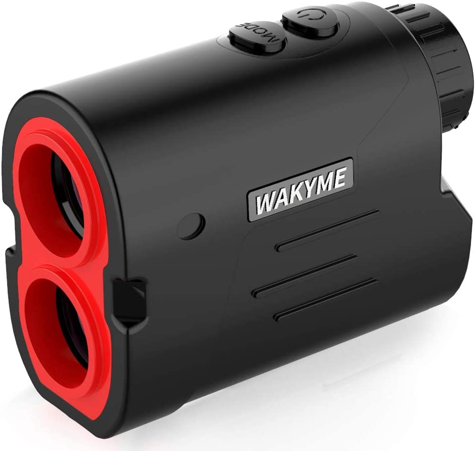 WAKYME Rangefinder, Golf & Hunting Rangefinder, 650/1000 Yards 6X Range Finder with Slope, Fast Flag-Lock, Angle Measurement, Speed, Scan, Laser Rangefinders with Low Battery Indicator