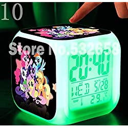 AThiToZone (arrive within 3-5 weeks). Princess Ponies Toys & Hobbies Little Horse Alarm Clock Digital Action Toy Figures Thermometer Night Colorful Glowing Toys (Style 10)