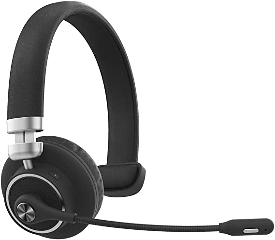 Willful M91 Bluetooth Headset Wireless Headset with Microphone (Flexible Noise Cancelling Mic) Mute Button Clear Sound Comfortable Wearing