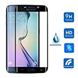 S6 Edge Screen Protector, GOOLOO Full Screen Coverage Tempered Glass Screen Protector Film for Samsung Galaxy S6 Edge(Black)
