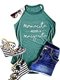 Women's Casual Tops Tee Graphic Muscle Tanks Mamacita Needs A Margarita Tank Top Sleeveless Tees Vest (M, A)