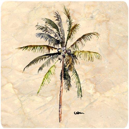 - Caroline's Treasures 8482FC Tree-Palm Tree Foam Coasters (Set of 4), 3.5