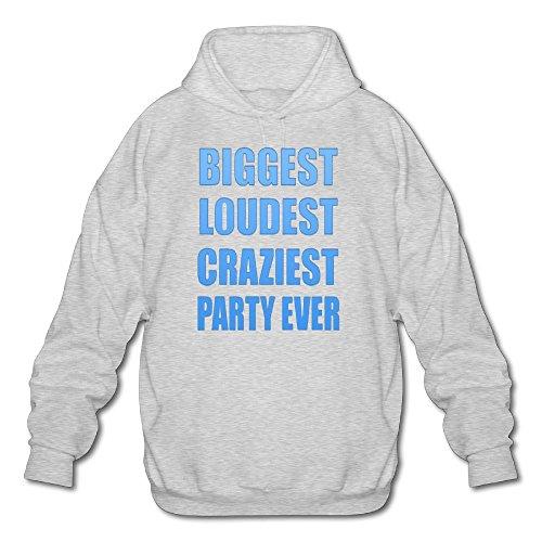 iest Party Ever Spring Autumn Long Sleeve for Men Custom Hoodie Sweatshirt SizeKey1Ash ()