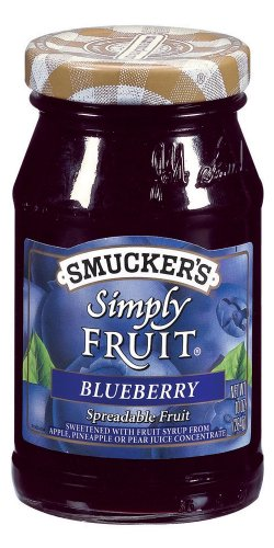 Smuckers Simply Fruit - Smucker's  Simply Fruit  Blueberry Spreadable Fruit, 10-Ounce (Pack of 6)