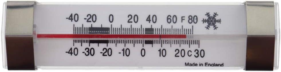 3PCS Thlevel Term/ómetro para Frigor/ífico Acero Inoxidable Term/ómetro para Refrigerador y Congelador Term/ómetro de Nevera con Gancho para Colgar