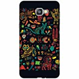 Printland Designer Back Cover For Samsung Galaxy A9 Pro - Abstract Designer Cases
