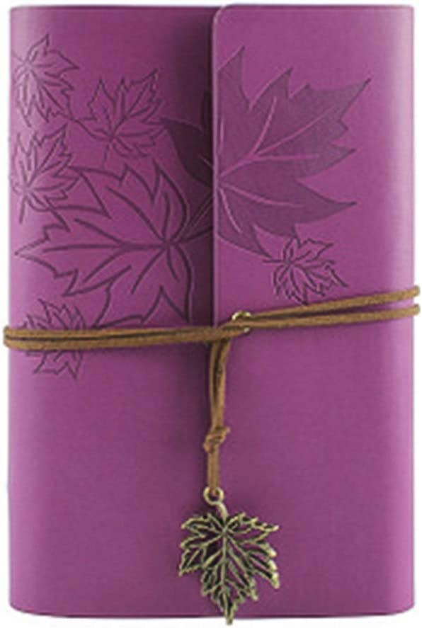 Leather Writing Journal Notebook, 7 Inches Classic Spiral Bound Notebook Refillable Diary Sketchbook Gifts with Unlined Travel Journals to Write in for Girls and Boys