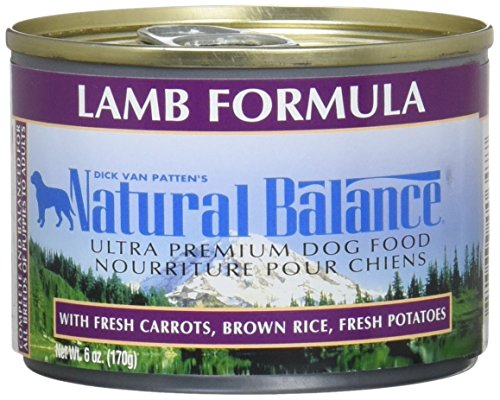 Natural Balance Pet Food Ultra Premium Dog Food Canned Lamb Formula -- 6 oz