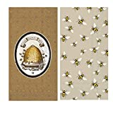 Honey Bee Themed Guest Towel Napkins Variety Pack - Bundle Includes 32 Total Paper Napkins in Lovely Bees and The Honey Bee Designs