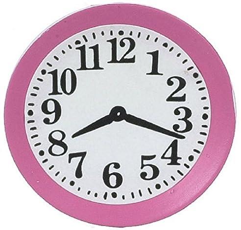 Puppenhaus Miniatur Zubehör Küchen Wanduhr pink 5045: Amazon.de ...