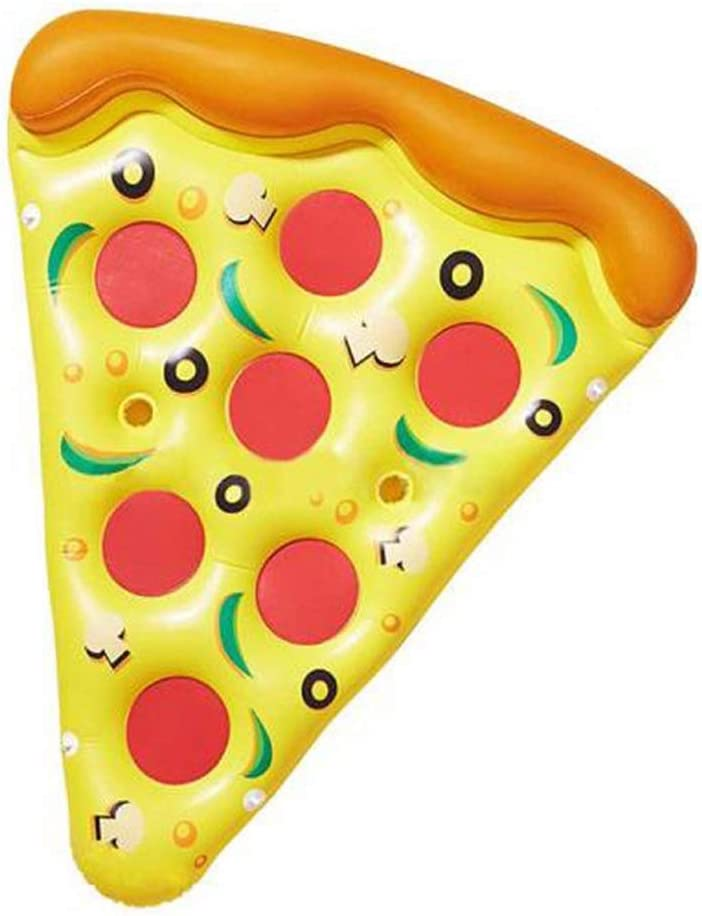 No logo 180 cm Verano Inflable Encantadora Forma de Pizza Cama Flotante Piscina de natación Flotadores Balsa Colchones de Aire Natación Diversión Juguete de Playa LPLHJD