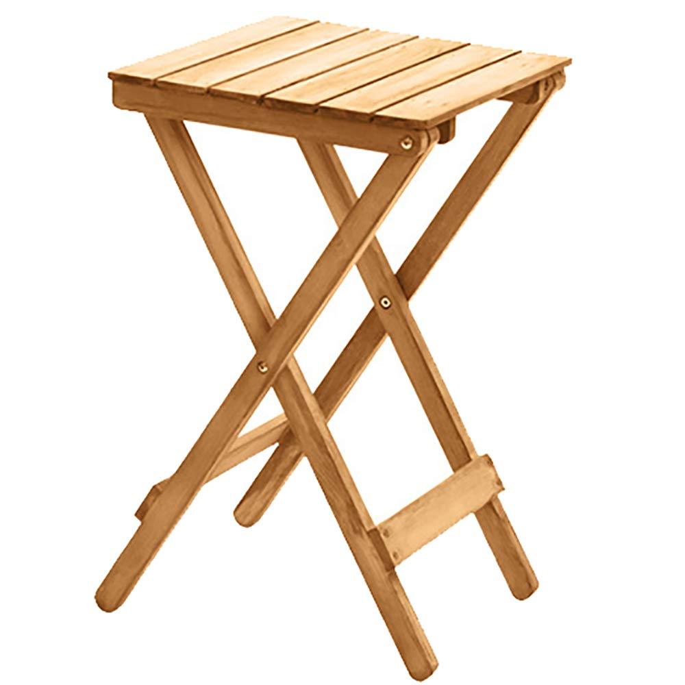折り畳み式テーブル北欧のミニマリストの木の花のリビングルームバルコニー怠惰な折り畳みテーブルのコーヒーテーブル屋外の小さなテーブルレトロカラー 60 * 35.5 * 35.5cm   B07K8B5S15