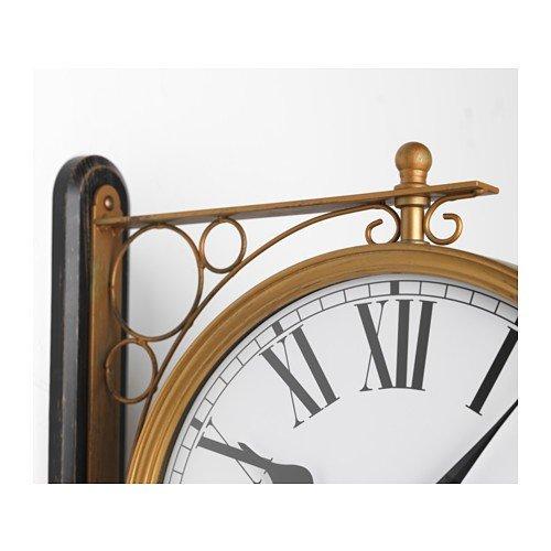 Ikea kladdis Reloj de pared en latón; Doble Cara; (30 cm): Amazon.es: Hogar