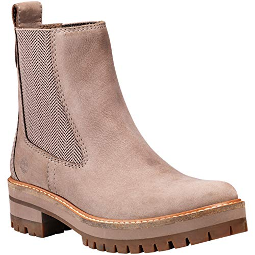 629cc261c783d5 Timberland Women s Courmayeur Valley Chelsea Boot Medium Grey Nubuck (8.5  B(M) US