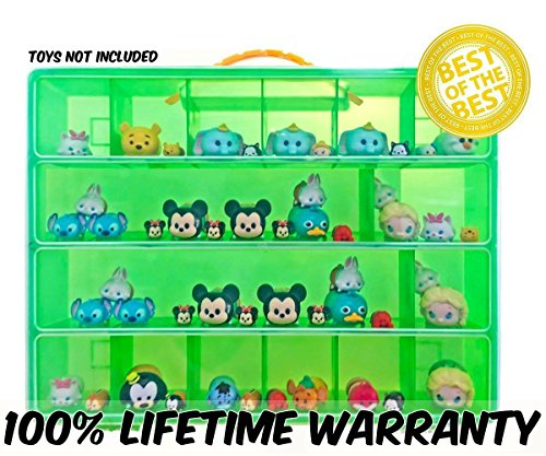 Easy Tv Show Character Costumes - Tsum Tsum Mini Toys Carrying Case - Stores Dozens Of Tsum Tsum Mini Figure And Toys - Durable Toy Storage Organizers By Life Made Better - Green