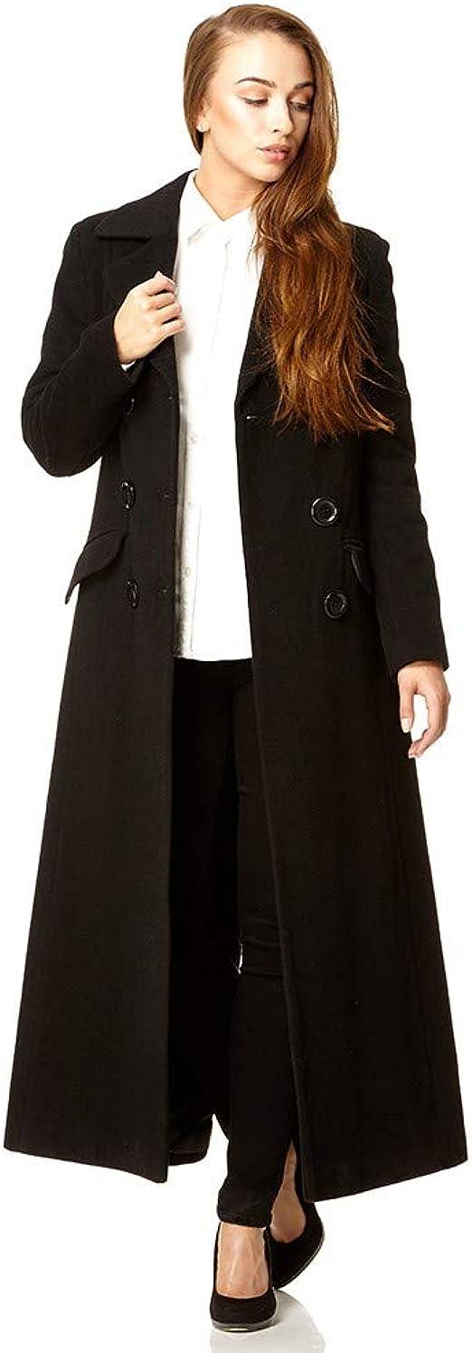 Anastasia Cappotto da Donna in Lana e Cashmere con Cintura Invernale