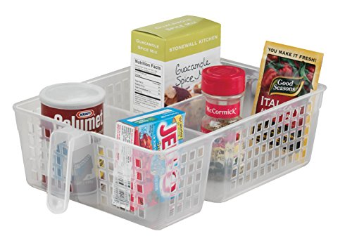3-Section Handy Basket for Pantry, Set of 2