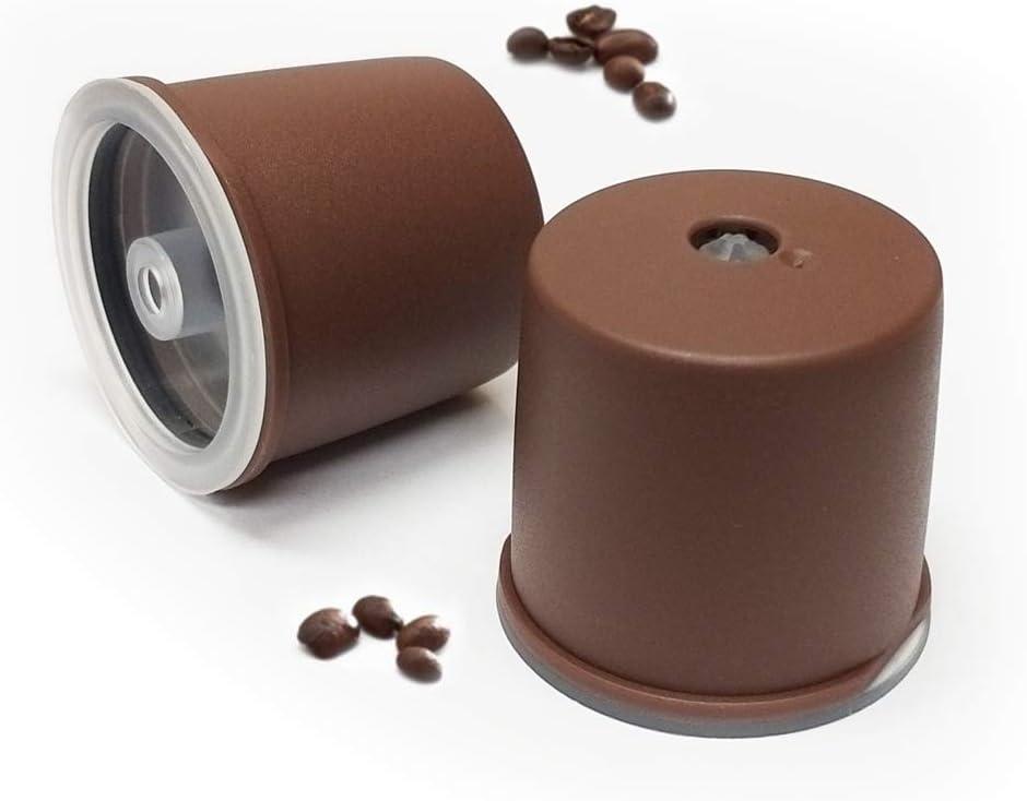 Kuner illy - Cápsulas recargables compatibles con la máquina de café Illy, color marrón 2_counts: Amazon.es: Hogar