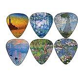 Monet Unique Guitar Picks - Waterlilies - Celluloid Medium 12 Pack - by Creanoso