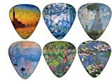 Claude Monet Guitar Picks Art Gifts - Waterlilies Sunrise Twilight Nympheas Art - Celluloid Medium 12 Pack - Unique Guitarist Gift Accessories by Creanoso