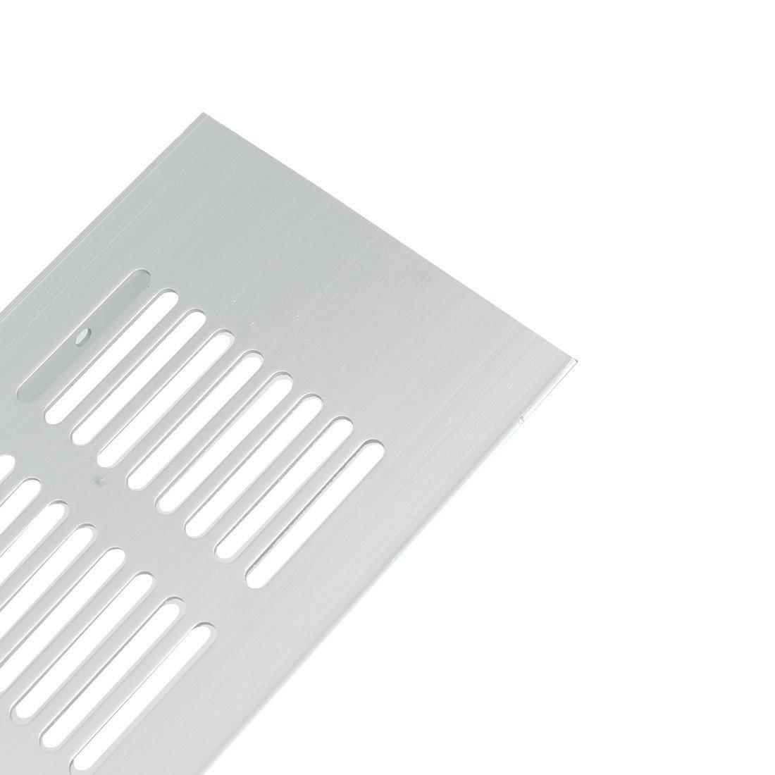 400mmx80mm en alliage aluminium grille de ventilation rectangulaire Couvercle /à persiennes A/érateur