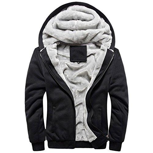 577Loby Hoodies Sweatshirts Thicken Lining Warm Jackets Men Casual Loose Coats