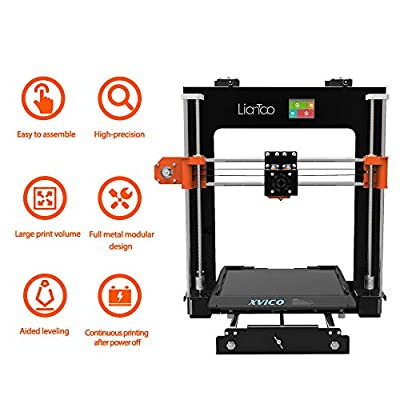 Xvico X1 3D Printer Aluminum DIY with Quick Assemble Semi Auto-Leveling with Free Sample PLA Filament and MicroSD Card Preloaded with Printable Models Touch Screen Multiple Languages 220x220x240mm
