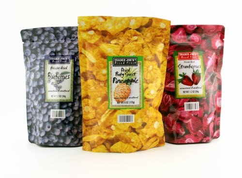 Trader Joe's Freeze Dried Fruit Assortment (Blueberries, Strawberries,Pineapple)