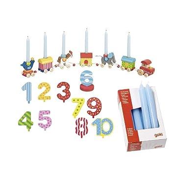 Die LuLuGoS Goki - Tren para velas de cumpleaños (incluye 10 ...