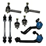 Detroit Axle - Complete 8-Piece Front Suspension Kit Ford Explorer - 10-Year Warranty - 2-Piece Upper Control Arms & Ball Joint, 2 Lower Ball Joints - Torsion Bar Suspension Models Only......