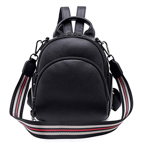 À Multi Portefeuille Femelle 18 À Shopping Fonction 10 Mode Sac Black Lady Étanche cm Cuir Mini Dos en Casual Bandoulière backpack 21 Sac UEqUTXf