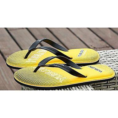 Women'sVerano Casual PVC tal¨®n plano rojo amarillo azul US11.5 / EU43 / UK9.5 / CN45