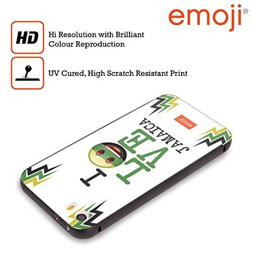 Officiel Emoji La Jamaïque J'aime Mon Pays Noir Étui Coque Aluminium Bumper Slider pour Apple iPhone 6 Plus / 6s Plus