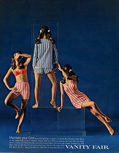 Maintain Your Cool - Vanity Fair bra panti-slip chemise nightshift ad 1968 (Best Vanity Fair Chemises)