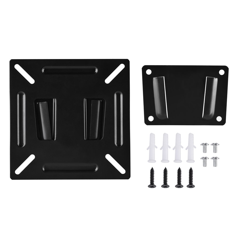 Adjustable Wall-Mounted Stand Monitor Bracket Holder for 12-24 inch LCD LED TV PC Plasma Flat Panel Screen Zerone