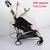 Weather Shield, Rain Cover, Plastic Clear Netting for Babyzen YOYO Stroller (Full Cover)