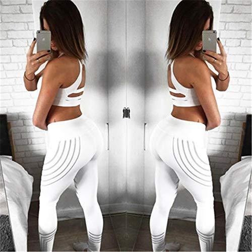 white Dames De Force Laser s Jogging Stretch La Haute Pants Serré Hanche 3d Automne Yoga Pantalon Ads Pantalons Gray Taille g5qWnXTtA